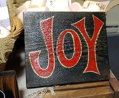 Joy Rustic Wood Sign