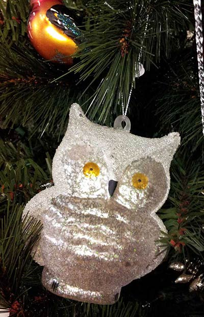 Frosty Owl Ornament