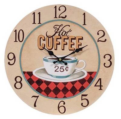 Hot Coffee Wall Clock