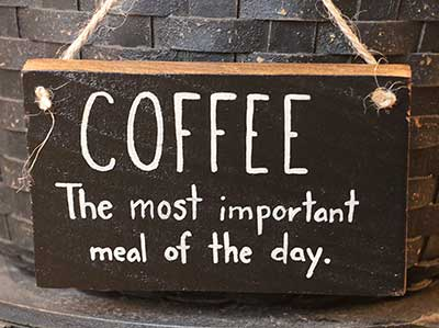 Most Important Meal Wooden Sign