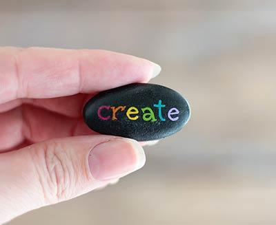 Create Hand Painted Pocket Rock
