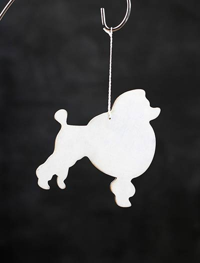 Poodle Personalized Ornament