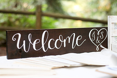 Personalized Hand Lettered Welcome Sign
