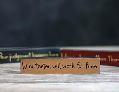 Wine Taster Shelf Sitter Sign