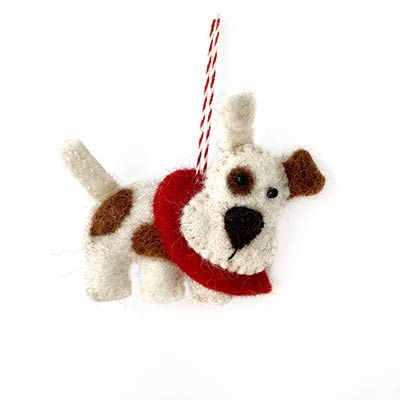 Terrier Dog Wool Ornament