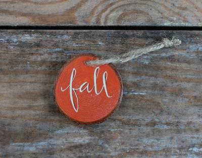Fall Wood Slice Ornament