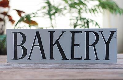 Bakery Wood Sign (Gray & Black)