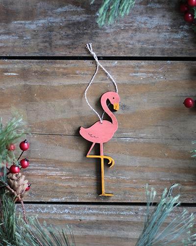 Flamingo Ornament (Personalized)