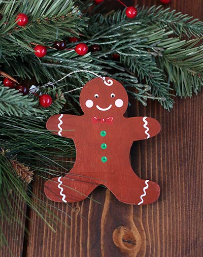 Gingerbread Man Personalized Ornament
