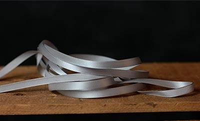 Silver Grey Single Faced Poly Satin Ribbon, 1/4 inch