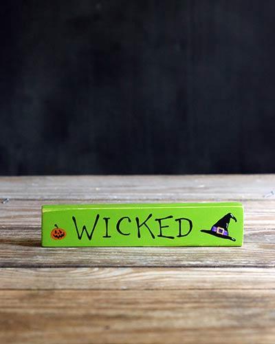 Wicked Shelf Sitter with Witch Hat & Pumpkin