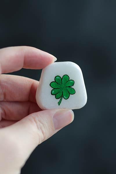 Four-Leaf Clover Pocket Rock