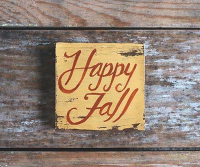 Happy Fall Shelf Sitter Sign
