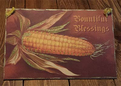 Bountiful Blessings Vintage Postcard Picture