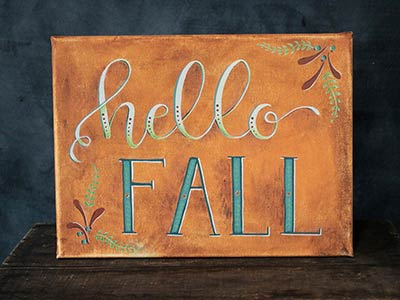 Hello Fall Canvas Painting
