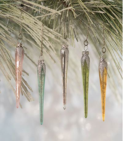 Pastel Mini Icicle Ornaments (Set of 5)