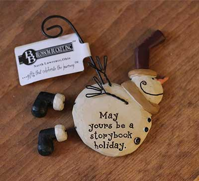 Flying Snowman Ornament - Storybook Holiday