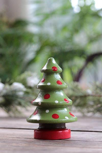 Christmas Tree Figurine - Lime Green