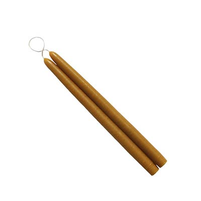 6 inch Antique Gold Mole Hollow Tiny Taper Candles (Set of 2)