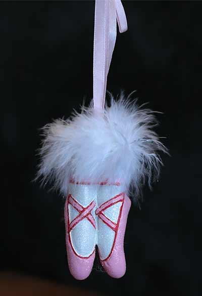Ballet Slipper Ornament