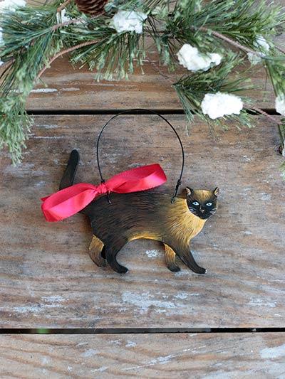 Cat Personalized Ornament - Siamese