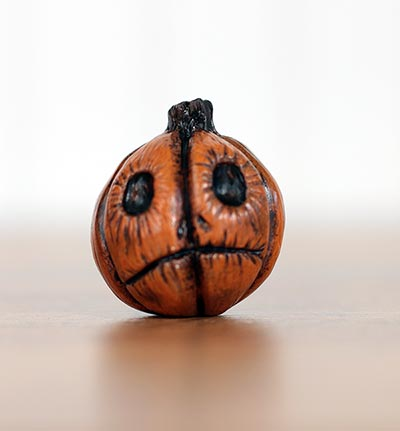 Orange Jack o'Lantern with Grim Face