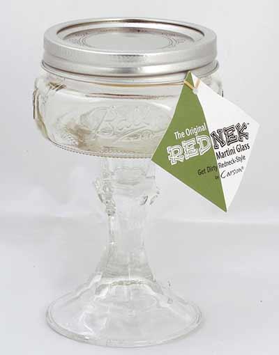 Rednek Martini Glass