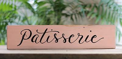 Patisserie Wood Sign