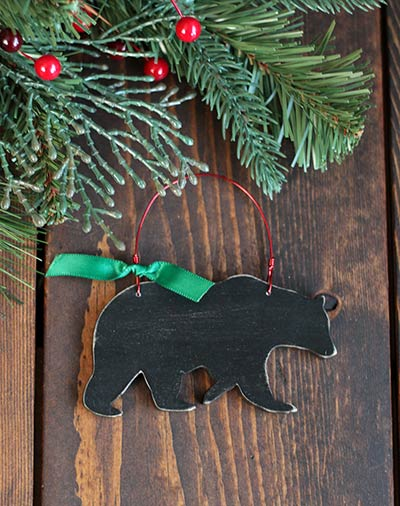 Black Bear Personalized Ornament