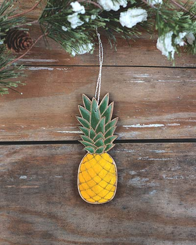 Pineapple Personalized Ornament