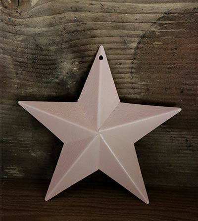Pale Peach Blue Barn Star (Multiple Size Options)