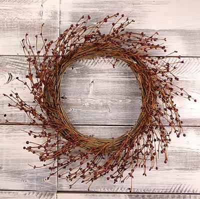 Burgundy Pip Berry Wreath