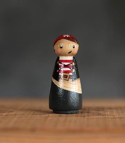 Pirate Girl Peg Doll
