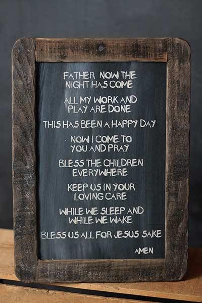 Good Night Prayer Blackboard