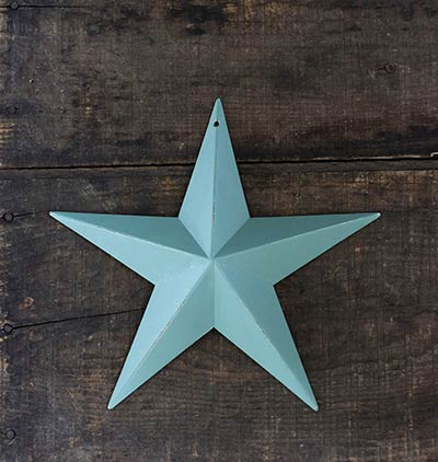 Sage Green/Blue Barn Star (Multiple Size Options)