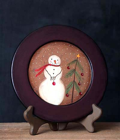 Decorating For Christmas Snowman Plate