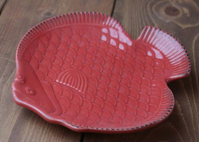 Nautical Fish Plate - Red