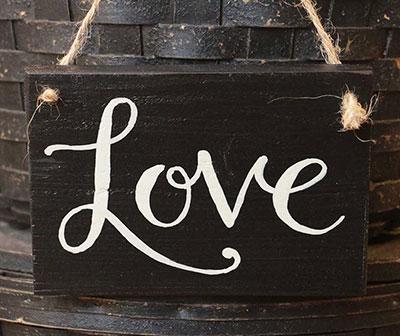 Love Wood Sign - Black
