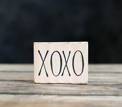 XOXO Sign Ornament