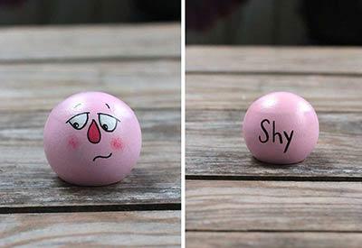 Emotion Peg Doll - Pink / Shy