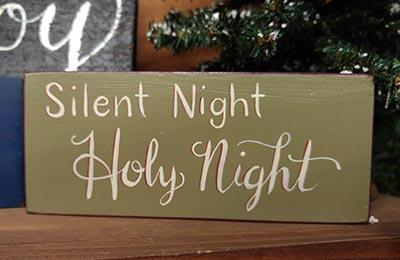 Silent Night Shelf Sitter /  Sign Block