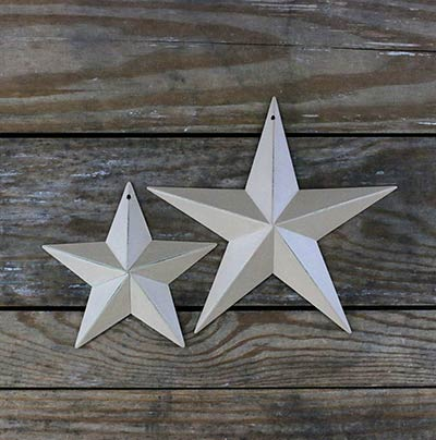 Antique Cream Barn Star (Multiple Size Options)
