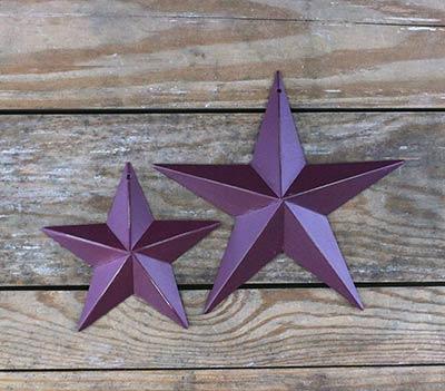 Burgundy Barn Star (Multiple Size Options)