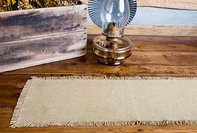 Deluxe Burlap Table Runner - 24 inch