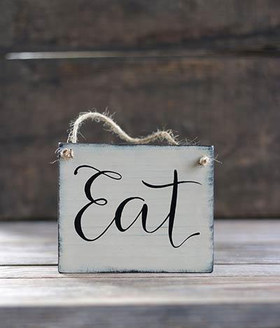 Eat Mini Wood Sign