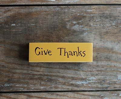 Give Thanks Mini Stick Sign
