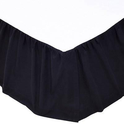 Solid Black Bed Skirt