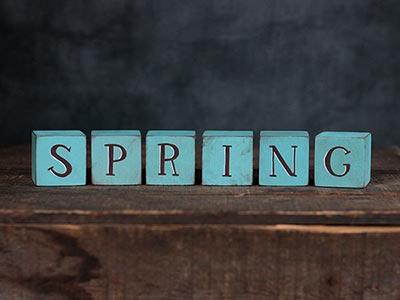 Spring Wood Blocks Set