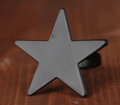 Black Star Napkin Rings (Set of 6)