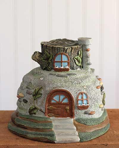 Stone Cottage Fairy House Figure